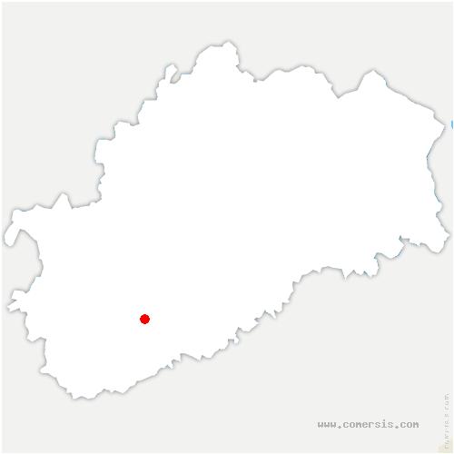 carte de localisation de Bucey-lès-Gy