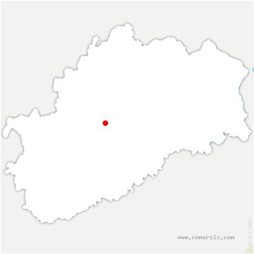 carte de localisation de Bucey-lès-Traves