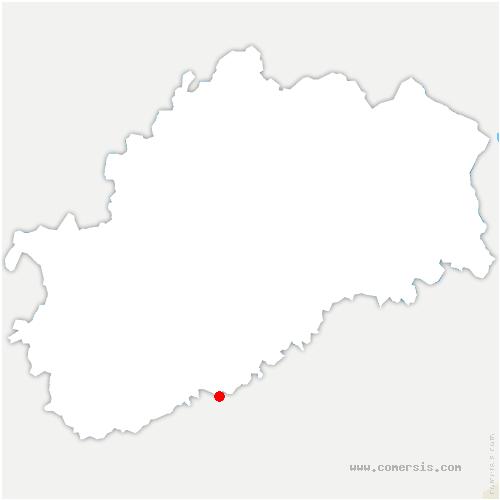 carte de localisation de Bussières