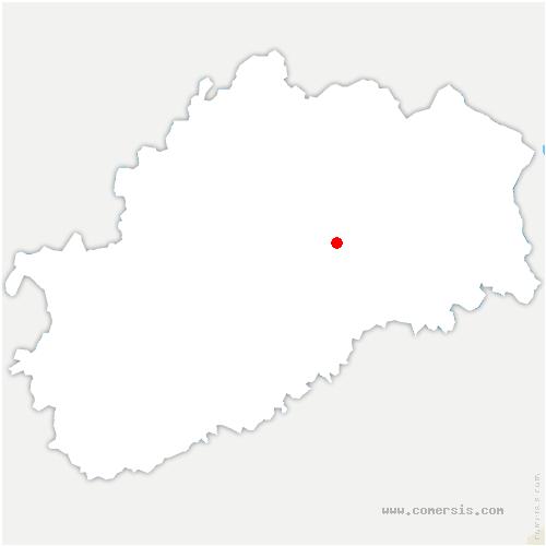 carte de localisation de Calmoutier