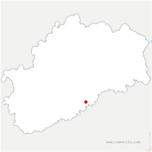 carte de localisation de Cenans