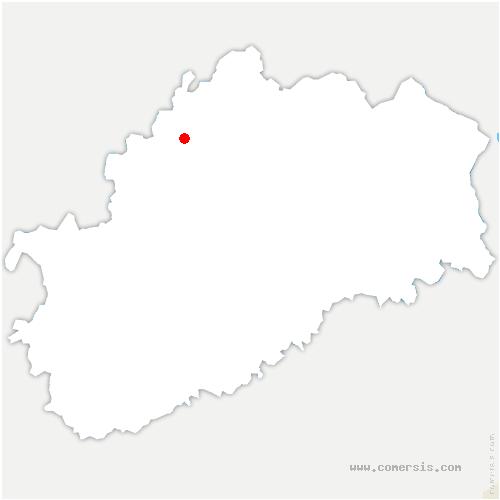 carte de localisation de Cendrecourt