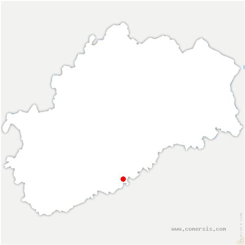 carte de localisation de Chambornay-lès-Bellevaux