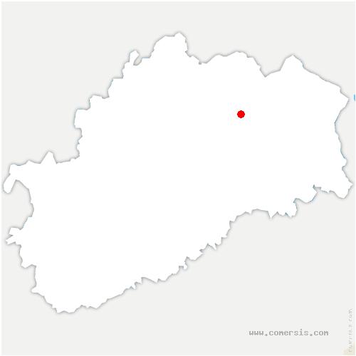 carte de localisation de Chapelle-lès-Luxeuil
