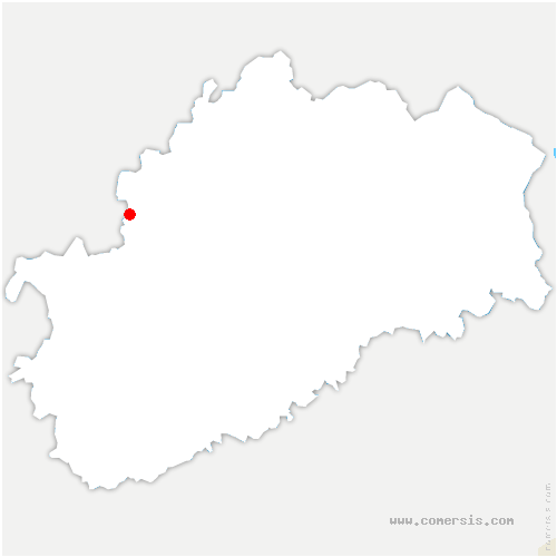 carte de localisation de Charmes-Saint-Valbert
