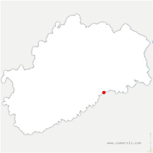 carte de localisation de Chassey-lès-Montbozon