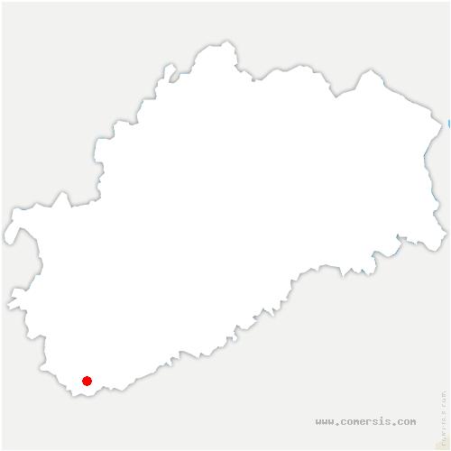 carte de localisation de Chaumercenne