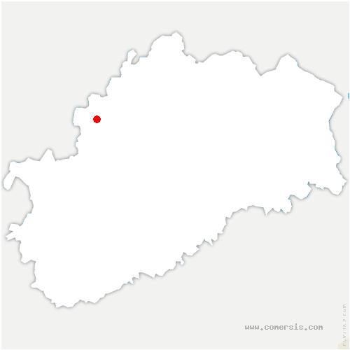 carte de localisation de Chauvirey-le-Châtel