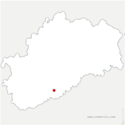carte de localisation de Chaux-la-Lotière