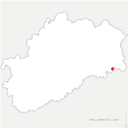 carte de localisation de Chavanne