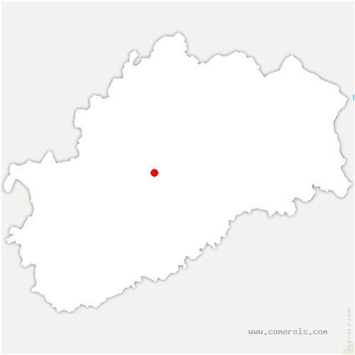 carte de localisation de Chemilly