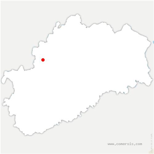carte de localisation de Cintrey
