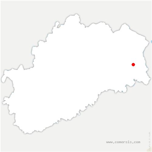 carte de localisation de Clairegoutte