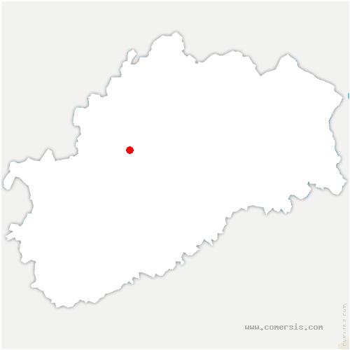 carte de localisation de Combeaufontaine
