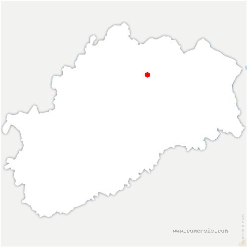 carte de localisation de Conflans-sur-Lanterne