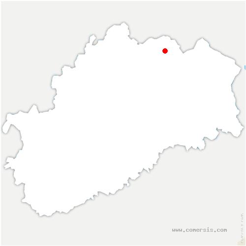 carte de localisation de Corbenay