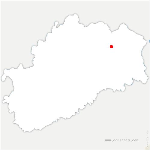 carte de localisation de Corbière