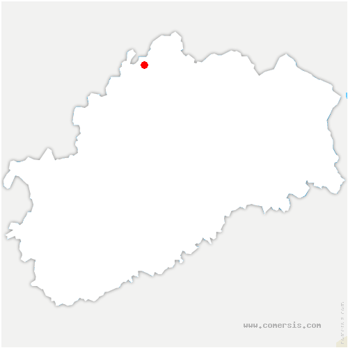 carte de localisation de Corre