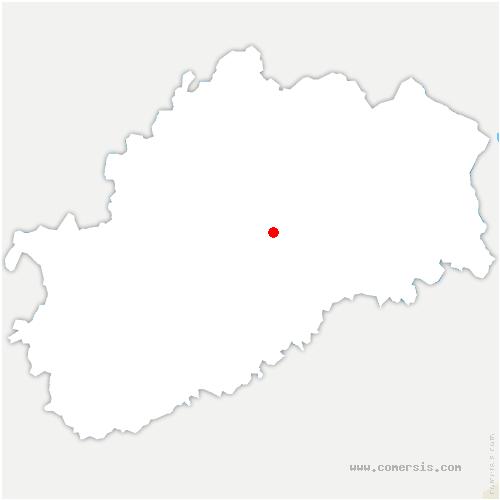 carte de localisation de Coulevon