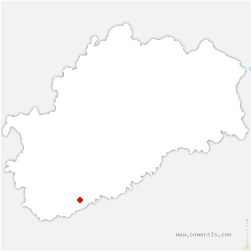 carte de localisation de Courcuire