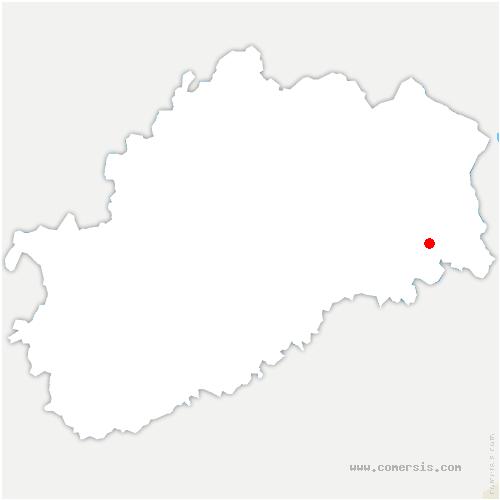 carte de localisation de Courmont
