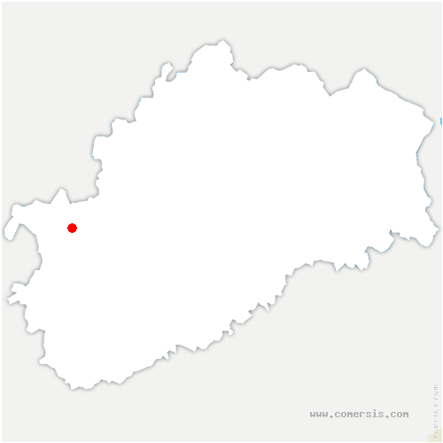 carte de localisation de Courtesoult-et-Gatey