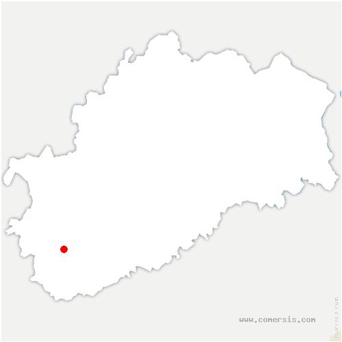 carte de localisation de Cresancey