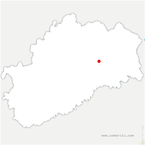 carte de localisation de Creuse
