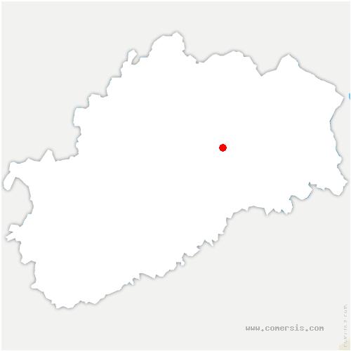 carte de localisation de Creveney