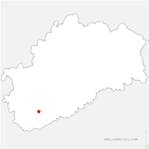 carte de localisation de Cugney