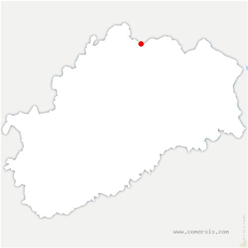 carte de localisation de Cuve