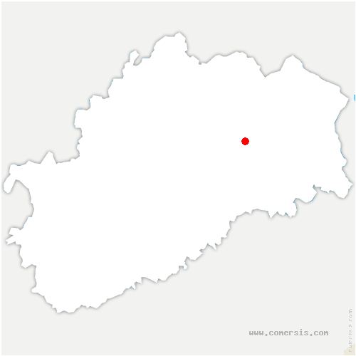 carte de localisation de Dambenoît-lès-Colombe