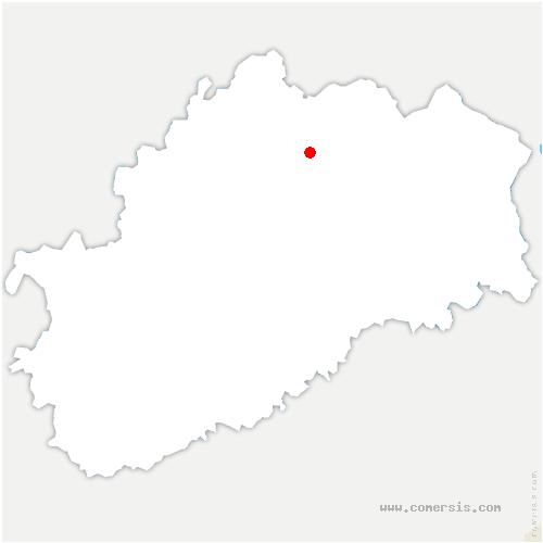 carte de localisation de Dampierre-lès-Conflans