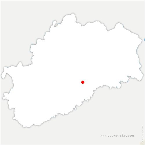 carte de localisation de Dampierre-sur-Linotte