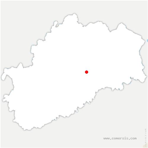 carte de localisation de Dampvalley-lès-Colombe