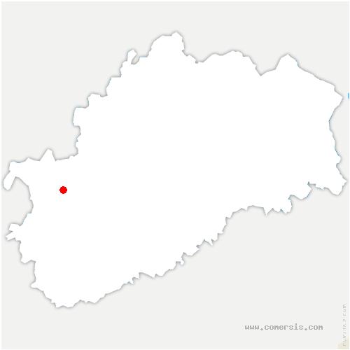 carte de localisation de Delain