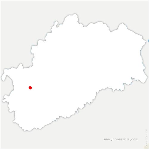 carte de localisation de Denèvre