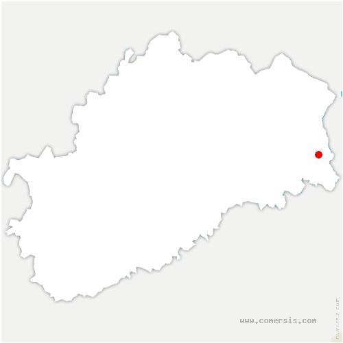 carte de localisation de Échavanne