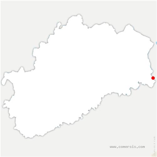 carte de localisation de Échenans-sous-Mont-Vaudois