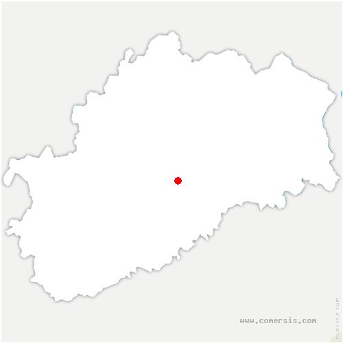 carte de localisation de Échenoz-la-Méline