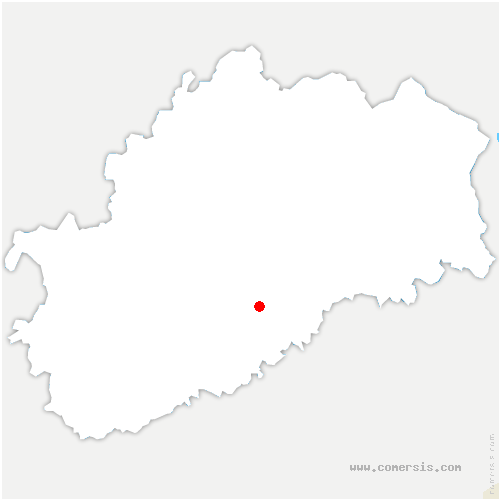 carte de localisation de Échenoz-le-Sec