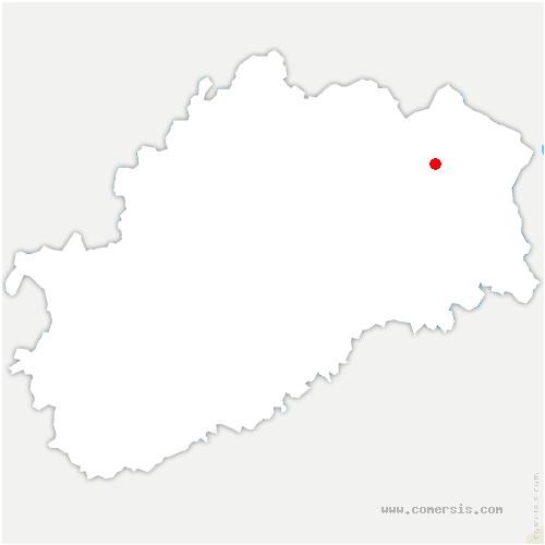 carte de localisation de Écromagny