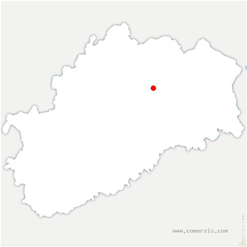 carte de localisation de Éhuns