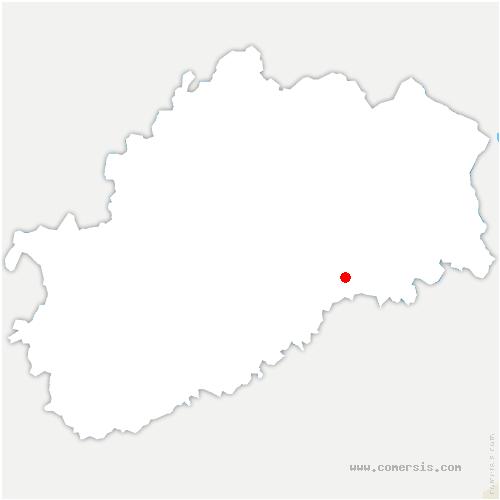 carte de localisation de Esprels