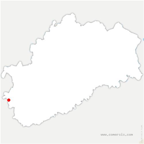 carte de localisation de Essertenne-et-Cecey