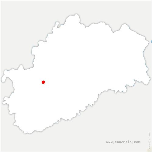 carte de localisation de Ferrières-lès-Ray
