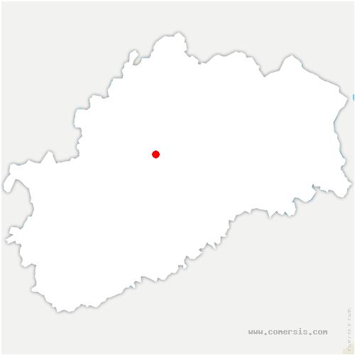 carte de localisation de Ferrières-lès-Scey