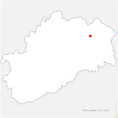 carte de localisation de Fessey