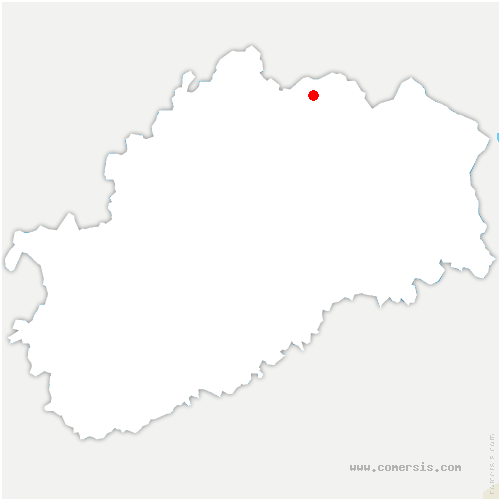 carte de localisation de Fleurey-lès-Saint-Loup