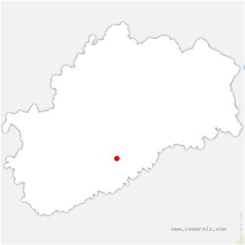 carte de localisation de Fondremand